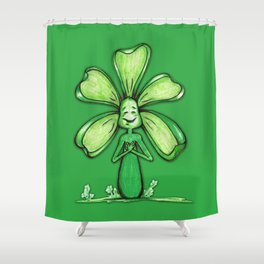 """Green"" Color Chakra Flowerkid Shower Curtain"