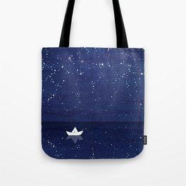 Zen sailing, ocean, stars Tote Bag