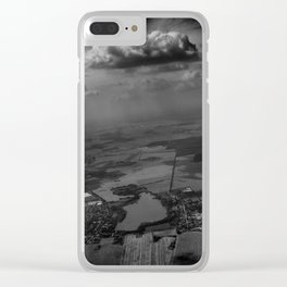 living under the rain cloud Clear iPhone Case
