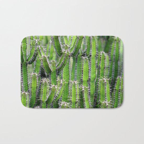 cactus illusion 4 Bath Mat