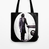cyberpunk Tote Bags featuring Life's Course You Flunk, Compute and Cyberpunk by Zombie Rust