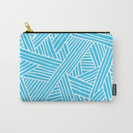 Abstract Teal & white Lines and Triangles Pattern-Mix and Match with Simplicity of Life #Society6 Carry-All Pouch