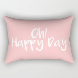 Oh! Happy Day Pink Rectangular Pillow