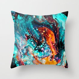 Paint Swirl Euphoria Throw Pillow