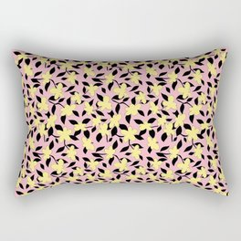Liberty Print . Floral Seam Pattern . Pink and Yellow Color trend . for fashion and Home decor Rectangular Pillow