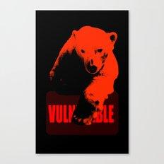 Vulnerable Polar Bear Canvas Print
