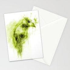 Splatter Bird Green Stationery Cards