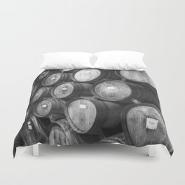 Stacked Barrels Duvet Cover