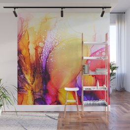 Pink and Magenta Fluid Abstract Inkscape Wall Mural