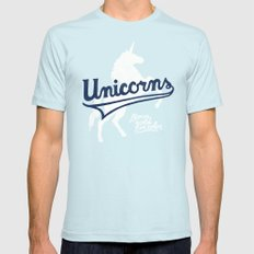 Unicorns Light Blue Mens Fitted Tee SMALL