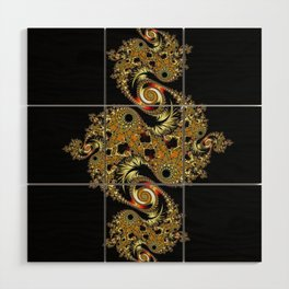 Golden Star Wood Wall Art
