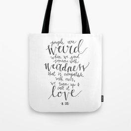 Call It Love | Dr. Seuss Print Tote Bag