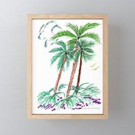 """""""Triplet Palms"""" Framed Mini Art Print"""