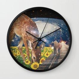 Giant space deer Wall Clock
