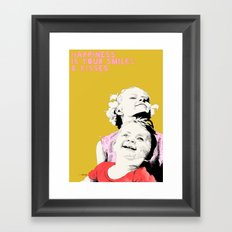 Smiles & kisses Framed Art Print