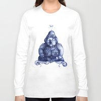 fat Long Sleeve T-shirts featuring Fat Lady by Anna Cannuzz