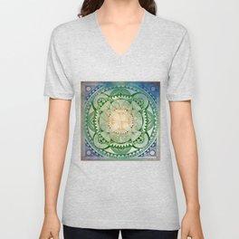 Metta Mandala, Loving Kindness Meditation Unisex V-Neck