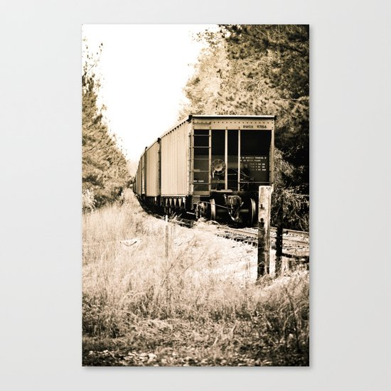 Tracks of Time Canvas Print