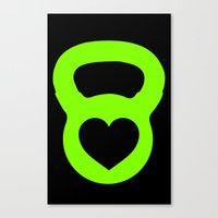 crossfit Canvas Prints featuring Crossfit Love by AimHigh