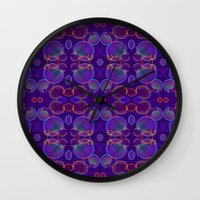 bubbles Wall Clocks featuring Bubbles by ARTDROID