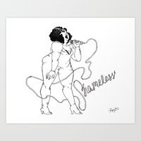 shameless Art Prints featuring Shameless by Roxy Morataya