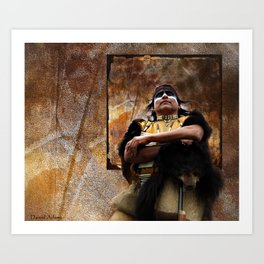 The Native American Bear Art Print