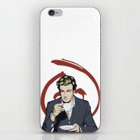 patrick iPhone & iPod Skins featuring Patrick Jane by Renan Lacerda
