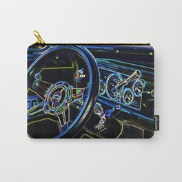 Interior of a classic vintage car Carry-All Pouch
