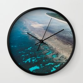 Great Barrier Reef Australia Art Print Wall Clock