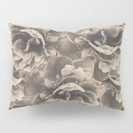 Sepia Peony Flower Bouquet #1 #floral #decor #art #society6 Pillow Sham