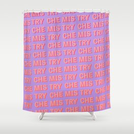 Chemistry - Typography Shower Curtain