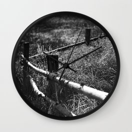 Black & White fance Wall Clock