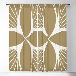 Diamond Series Floral Diamond White on Gold Blackout Curtain