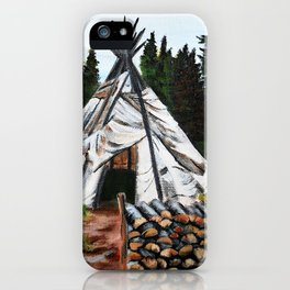 Walking Out Ceremony Teepee iPhone Case