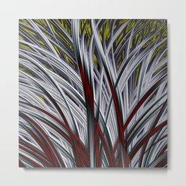 White Grass Metal Print