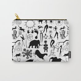 Cave paintings - primitive art Carry-All Pouch