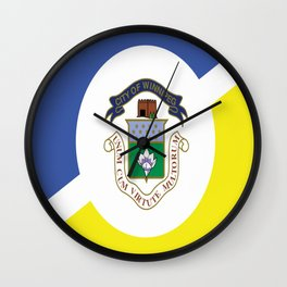 flag of winnipeg Wall Clock
