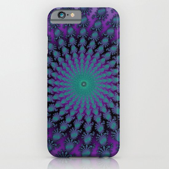 Cool Hued Purple Blue Braided Rug Fractal iPhone & iPod Case
