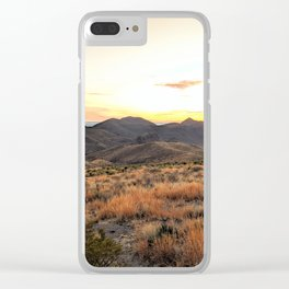 West Texas sunset Clear iPhone Case