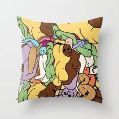 Human Slugs Throw Pillow