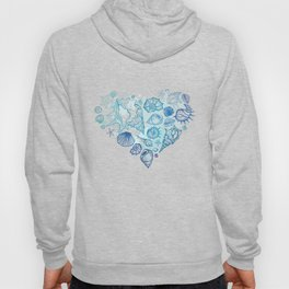 Heart of the shells. Hand drawn illustration Hoody