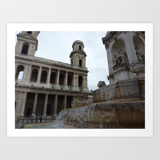 Parisian Fountain Art Print