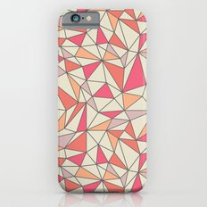 triangles color block in coral pink and orange Slim Case iPhone 6s