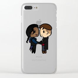 Inej x Kaz - Six of Crows / Crooked Kingdom (B) Clear iPhone Case