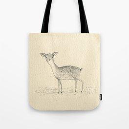 Monochrome Deer Tote Bag