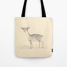 Monochrome Deer Tote Bag