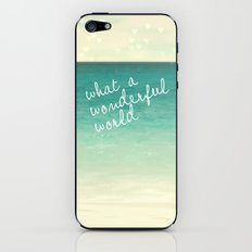 wonderful world iPhone & iPod Skin
