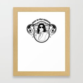 THE KING OF POP Framed Art Print