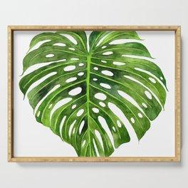 Jungle Leaf Monstera Deliciosa Serving Tray