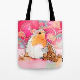 Robin Likes Turkish Hazelnuts Tote Bag